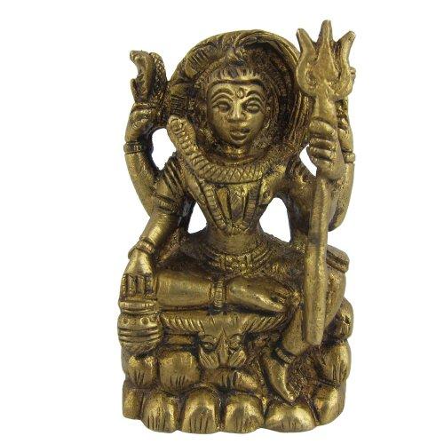 Mahadev Gott Shiva Statue Skulptur Messing Indische Deko 64 CM