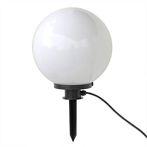LED Kugellampe Kugelleuchte 20cm incl 9 Watt LED Leuchtmittel E27 warmweiss Gartenkugel Leuchtkugel für Aussen Kugellampen Set für den Garten